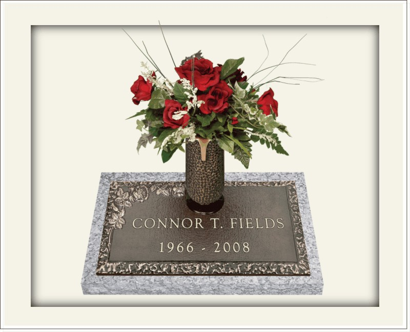 Individual Memorials With Vase Star Granite